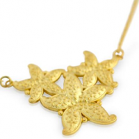 Gold Plated Starfish Necklace