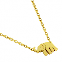 Gold Vermeil Plated Elephant Necklace