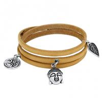 Spirit Leather Wrapped Charm Bracelet
