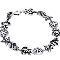 Sterling Silver Under the Sea Link Bracelet
